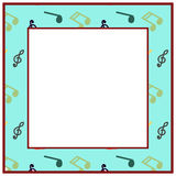 Musical frame. Stock Images