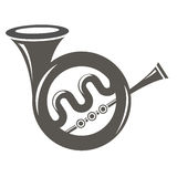Musical French Horn Icon Stock Photos