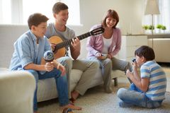 Musical fun Royalty Free Stock Photo