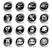 musical genre web icons Royalty Free Stock Images