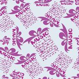 Musical gift. Notes. Design for the cover of the concert program of classical music, music festival, background image for textiles, wrapping paper, packaging Stock Photography