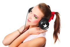 Musical girl Stock Image