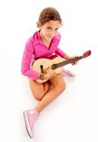 Musical girl Stock Photo