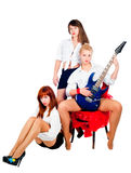 Musical girls band Stock Photography
