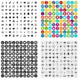 100 musical goods icons set vector variant. 100 musical goods icons set vector in 4 variant for any web design isolated on white Stock Photos