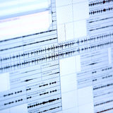 Musical graph on liquid-crystal display Royalty Free Stock Image