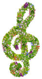 Musical green Easter clef Royalty Free Stock Photos