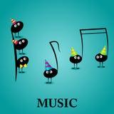 Musical greeting card Stock Photos