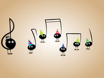 Musical greeting card Stock Photography