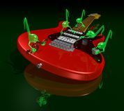 Musical gremlins Royalty Free Stock Images