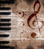 Musical grunge background stock illustration
