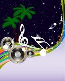 Musical grunge background Royalty Free Stock Photos