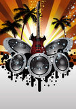 Musical grunge background Stock Photography