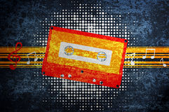 Musical grunge background. Royalty Free Stock Photos