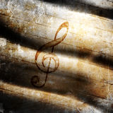 Musical grunge background Royalty Free Stock Images