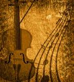 musical grunge de fond Images stock