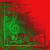 Musical Grunge do Natal Imagens de Stock