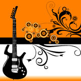 Musical guitar background Royalty Free Stock Images