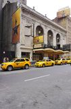 The musical Hamilton at the Rodgers Theater in New York. NEW YORK, NY - The musical Hamilton created by Lin Manuel Miranda has been playing in the Rodgers royalty free stock images