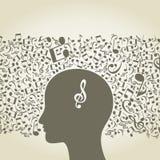 Musical head3 Stock Image