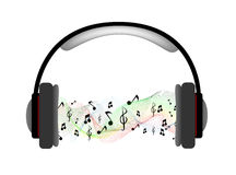 Musical headphones with equalizer Stock Images