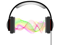 Musical headphones with equalizer Royalty Free Stock Photo