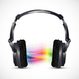 Musical headphones with equalizer Stock Photos