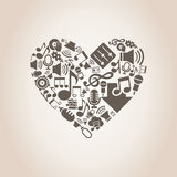 Musical heart8 Royalty Free Stock Photo