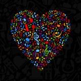 Musical heart5 Stock Image