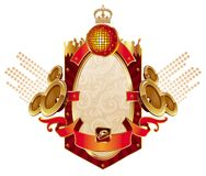 Musical heraldry Royalty Free Stock Photos