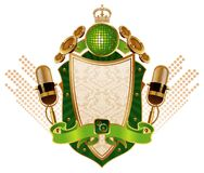 Musical heraldry Royalty Free Stock Photography