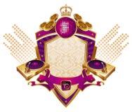 Musical heraldry Stock Image