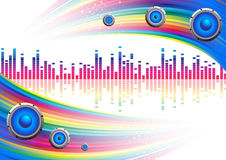 Musical ial background with a rainbow Royalty Free Stock Photo