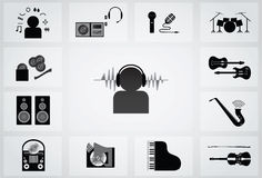 Musical icon Stock Photo