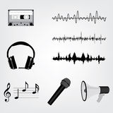 Musical icon set stock illustration