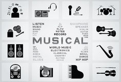 Musical icon Stock Image