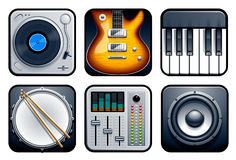 Musical icons. Vector set of music icons Royalty Free Stock Image
