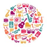 Musical Icons Background Royalty Free Stock Images