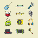 Musical icons Stock Photo