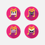 Musical icons Stock Photography