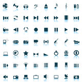 Musical icons set. Vector collection of different music themes icons Royalty Free Stock Image