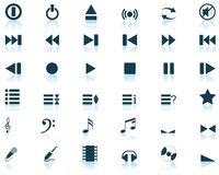 Musical icons set. Vector collection of different music themes icons Royalty Free Stock Images