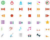 Musical icons set Stock Image