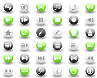 Musical icons set. Vector collection of different music themes icons Stock Image