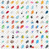 100 musical icons set, isometric 3d style Stock Image