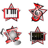 Musical icons. Vector illustration of musical icons Stock Photos