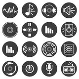 Musical icons. Vector set of musical icons Royalty Free Stock Photos