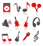 Musical icons4 Royalty Free Stock Photography