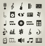 Musical icons9 Royalty Free Stock Images