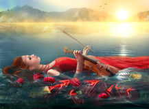 Fantasy Musical inspiration on  morning nature.  imagination Royalty Free Stock Photos